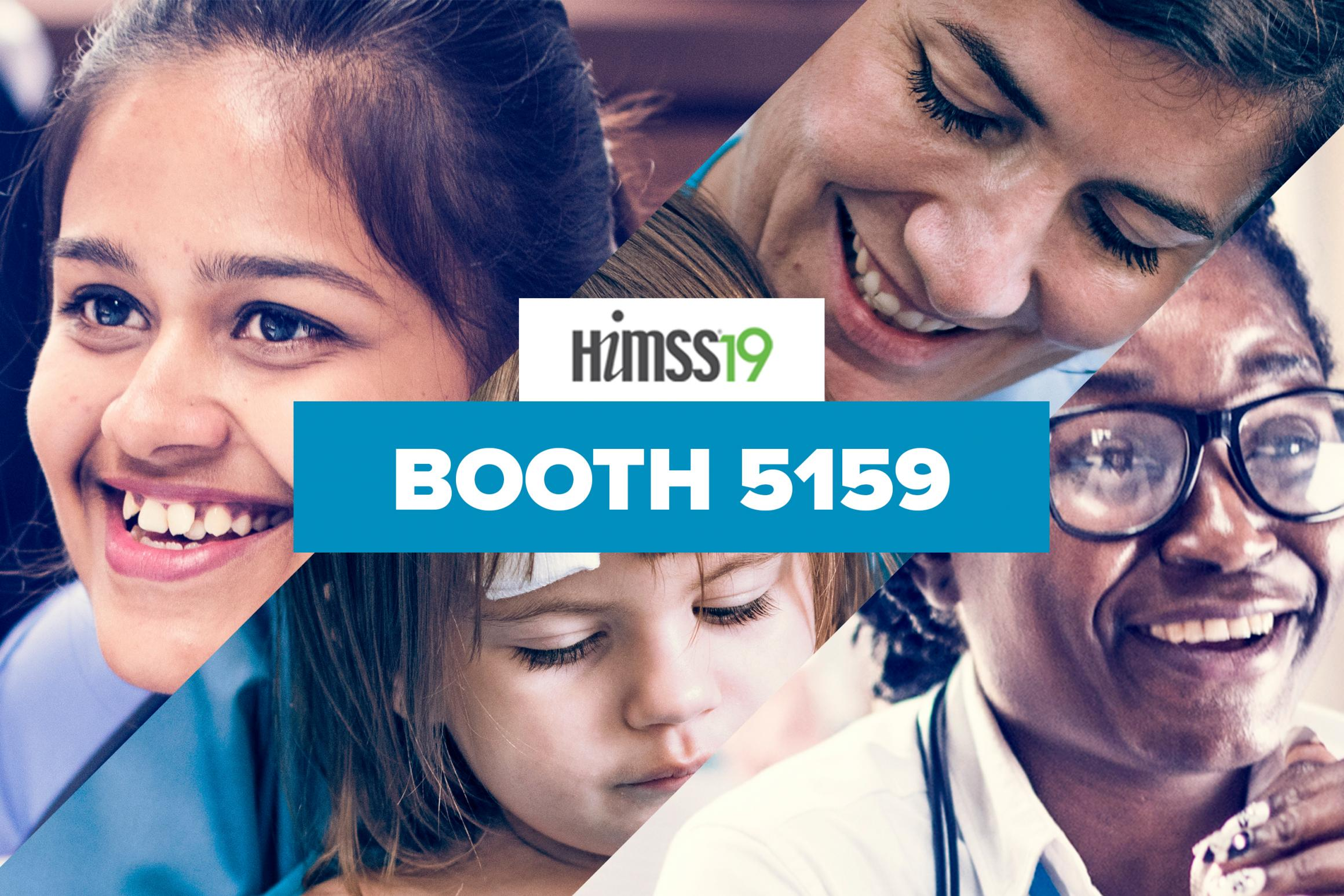 Join us at booth 5159 at HIMSS19