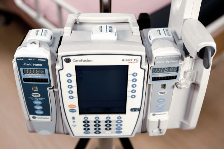Asset Management Tags on Hospital Equipment
